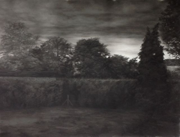 Charcoal on paper, 215X230cm, 2012