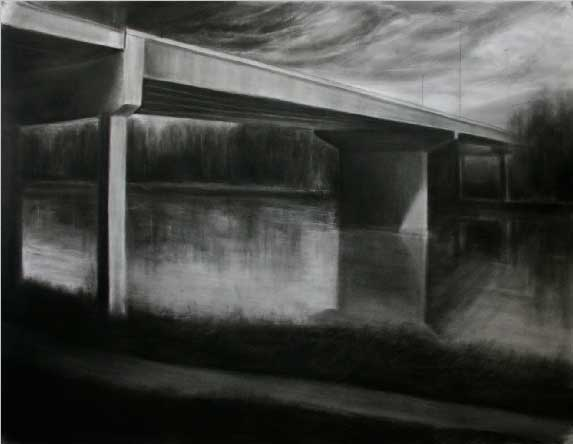Charcoal on paper, 150x180cm, 2009