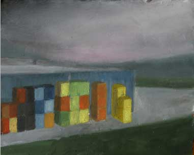 Oil on carton,13x15cm,2009, pr coll